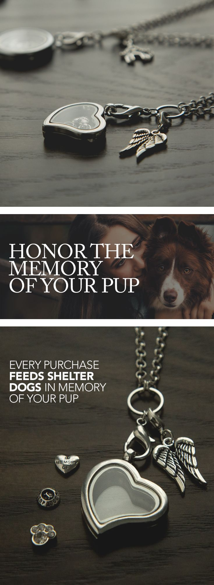 Furever™ Memorial Locket Set: Gives 10 Meals To Shelter Dogs In Honor of Your Dog.  *Limited Quantity so get your order in now!