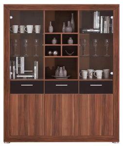 MS7 MAKS BOGFRAN glass-fronted cabinet. Modern design. Geometric shapes. Massive frame. Contrasting combination of coloгrs. Polish Bogfran Modern Furniture Store in London, United Kingdom #furniture #polish #bogfran #glassfrontedcabinet #cabinet