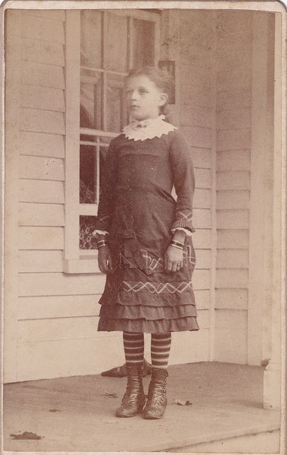 1883 CDV of a girl identified as 10 year old Clara A. Smith, daughter of Lorin and L. Smith of New York