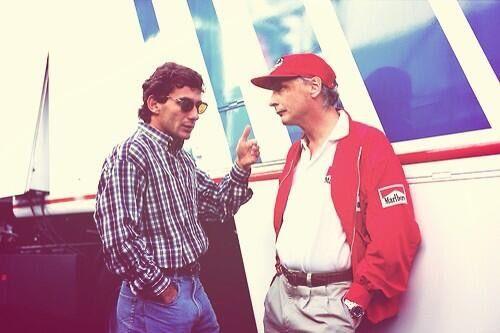 Ayrton Senna & Niki Lauda