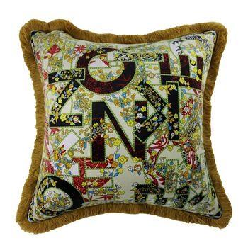 Wholesale Pillows Tassels Design Colorful Printing Square Decorative Sofa Cushion