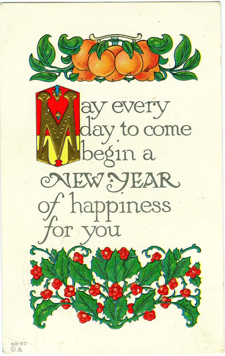 #antique New Years #postcard