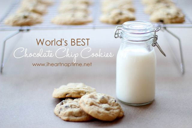 World's best chocolate chip cookies from iheartnaptime.net