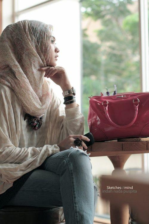 angle hijab, hijab style