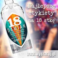 Uniwersalne naklejki na wódkę - 18ste urodziny - Zaprojektuj