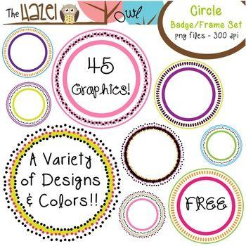 FREE Circular Badges/Frames!