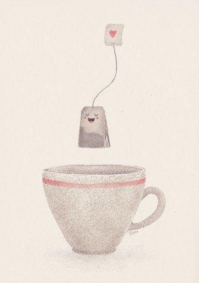 Tea Art Print   Lime