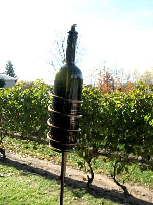 Wine bottle torchlights!