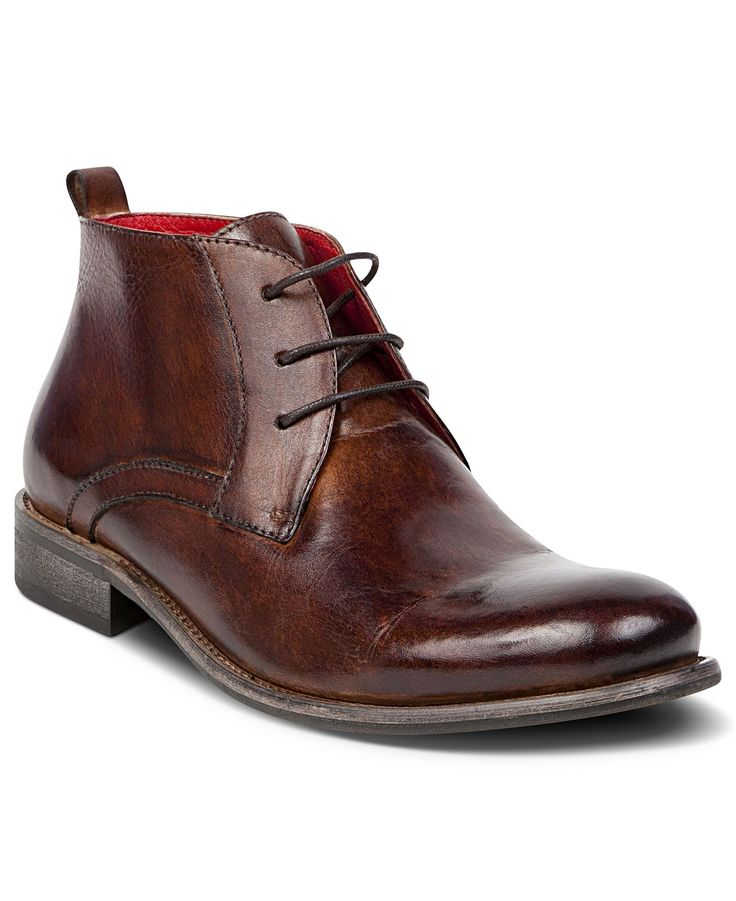 Steve Madden Shoes, Bruklyn Lace Up Boots - Mens Dress Boots - Macy's