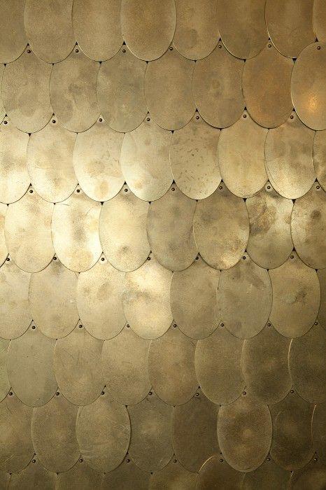 Brass discs #materials #interiordesign #jpwarreninteriors