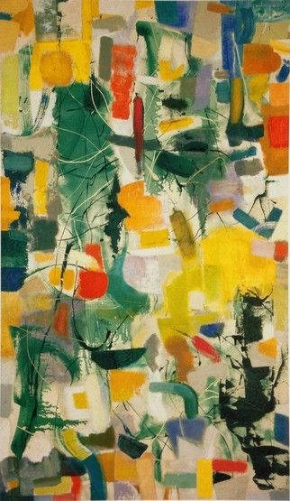 Fred Mitchell, Garden of the Sun Lion, 1951-53. Oil on canvas, 48 x 42 inches