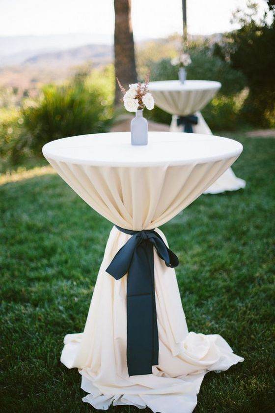 40 Incredible Ideas To Decorate Wedding Cocktail Tables Wedding Cocktail Tables Wedding Tablecloths Cocktail Table Decor
