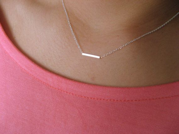 Dainty+Necklace+Sterling+Silver+with+Little+Square+by+Jewelsisses,+$17.50