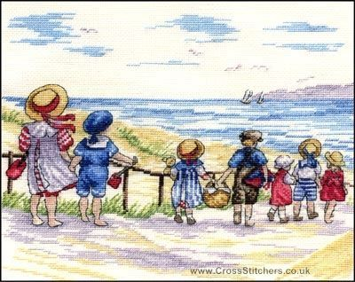 Beach, Seaside, Rivers & Lakes - To The Beach We Go - All Our Yesterdays Cross Stitch Kit