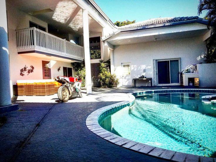 Interior courtyard home rocking my Ducati 1098S Tricolore