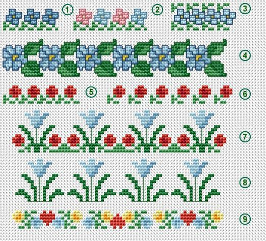 Cross Stitch Flowers / Floral Borders