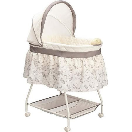 Delta Children 乳幼児用 ベビーベッド バシネット Sweet Beginnings Bassinet ホワイト