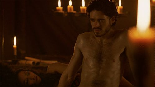 "Or his role as shirtless and panting Robb Stark on Game of Thrones… | Richard Madden's Game Of Would You Rather Is Almost As Shocking As ""Game Of Thrones"""