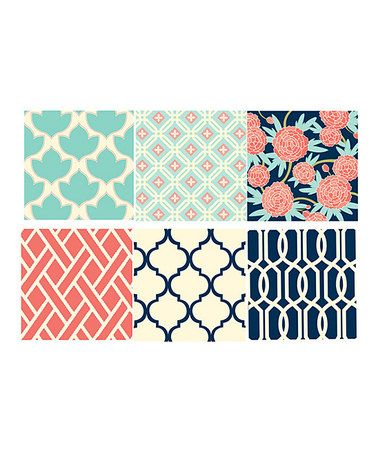 Look what I found on #zulily! Floral Canvas Print - Set of Eight #zulilyfinds