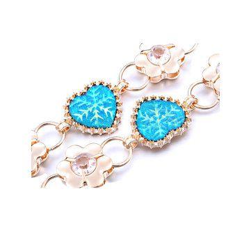 Women Ladies Diamond Heat Flower Shape Crystal Waist Chain Dress Alloy Belt at Banggood