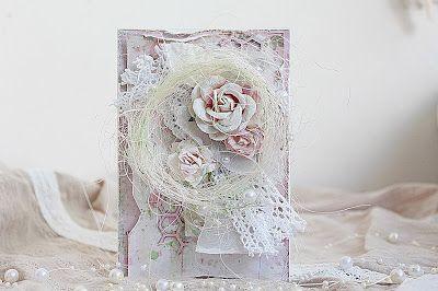 "Hand made by Kristina Peshko: Свадебная открытка ""Потертый шик""/ Wedding card Shabby chic"