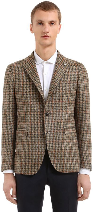 Tagliatore Shetland Wool Houndstooth Jacket