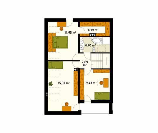Projekt domu Amarant 2 - rzut piętra/poddasza