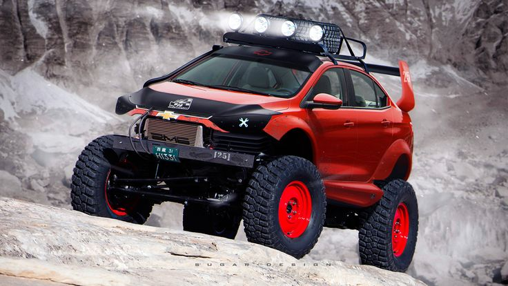ArtStation - Chevrolet Sail Off-Road, Sugar Chow