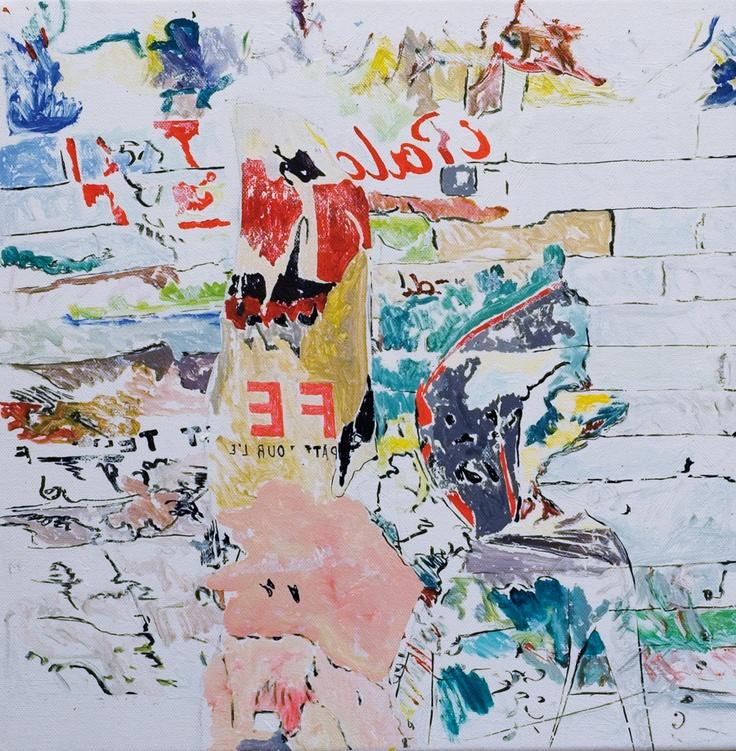 Claudio Spanti - Messaggio nella bottiglia - Acrylique sur toile - cm 40x40 - 2011