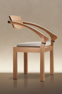 Wooden Chair with Armrests SPRING by Massimo Scolari GIORGETTI