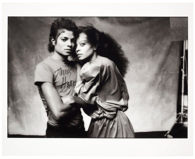 Michael Jackson and Diana Ross with Norman Seeff
