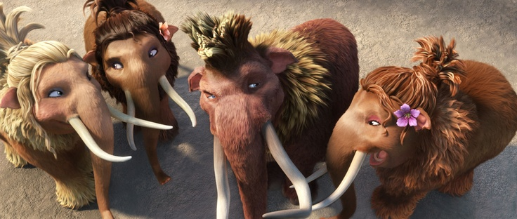 There are some new teenage mammoths in the herd, voiced by Drake, Heather Morris, and Nicki Minaj! Meet them on July 13th in Ice Age: Continental Drift!