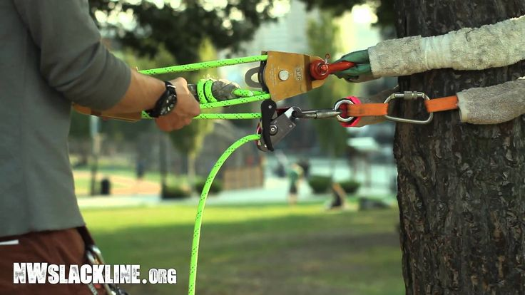 Get ready, because we're about to go on a long journey down the road of slackline tension systems: pulleys, static rope, brakes, multipliers, ascenders and p...