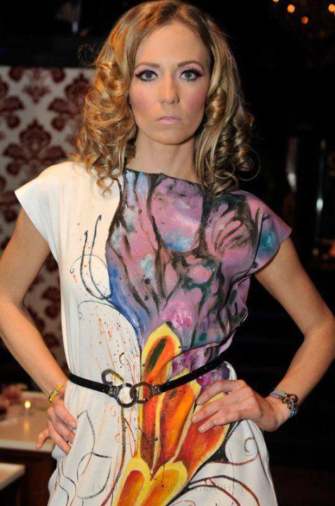Model wearing Cuffs of Love belt.