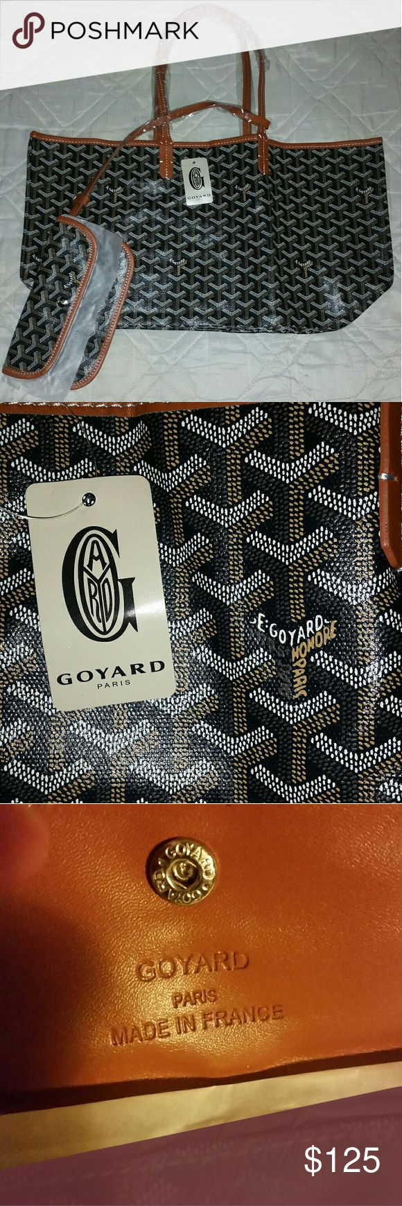 Tote bag and wallet Price says it all. Good quality leather and font is on point. Comes with original dustbag and tag. Goyard Bags Totes