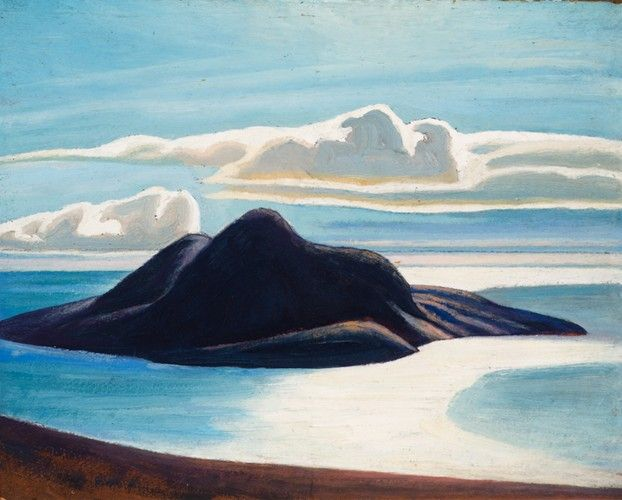 Lawren Harris - Pic Island Lake Superior 12 x 15 Oil on Beaverboard (c. 1926)
