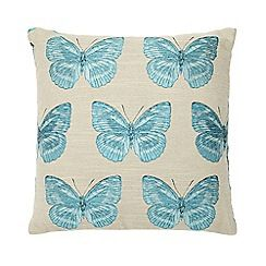 Home Collection - Natural butterfly print cushion
