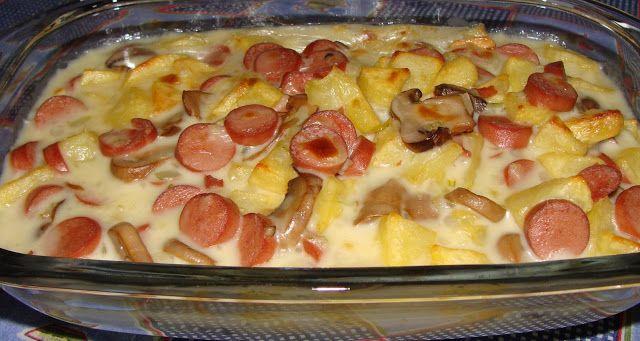 Receitas práticas de culinária: Salsichas gratinadas