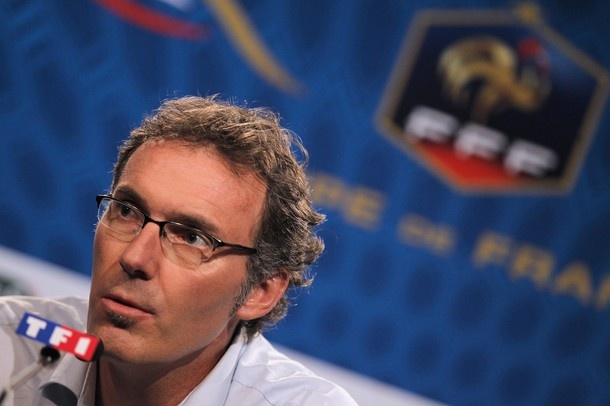 French national football team's coach Laurent Blanc gives a press conference on May 15, 2012 in Paris, to announce the preliminary 26-man squad for the the 2012 Euro squad in Poland-Ukraine. Blanc must announce his final 23-man squad by May 29.