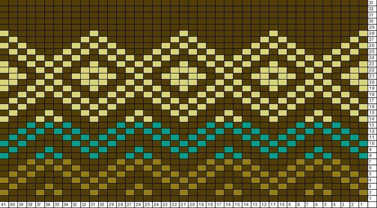 Tricksy Knitter Charts: Diamond Border