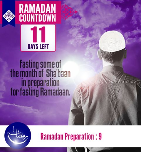 Fasting some of the month of Sha'baan in preparation for fasting Ramadaan. It was narrated that 'Aa'ishah (may Allaah be pleased with her) said: The Prophet (pbuh) used to fast until we said: He will not break his fast, and he used not to fast until we said: He will not fast. And I never saw the Prophet (pbuh) complete a month of fasting except Ramadan, and I never saw him fast more in any month than in Sha'baan.  Narrated by al-Bukhaari (1868) and Muslim (1156)
