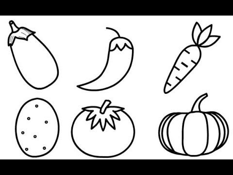 Drawing 6 Vegetables Drawing For Kids Vegetable Drawing Drawing For Kids Kindergarten Drawing