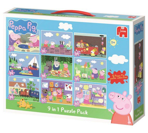 Buy Jumbo Games Peppa Pig 9 in 1 Jigsaw Puzzle at Argos.co.uk, visit Argos.co.uk to shop online for Puzzles and jigsaws, Board games, jigsaws and puzzles, Toys