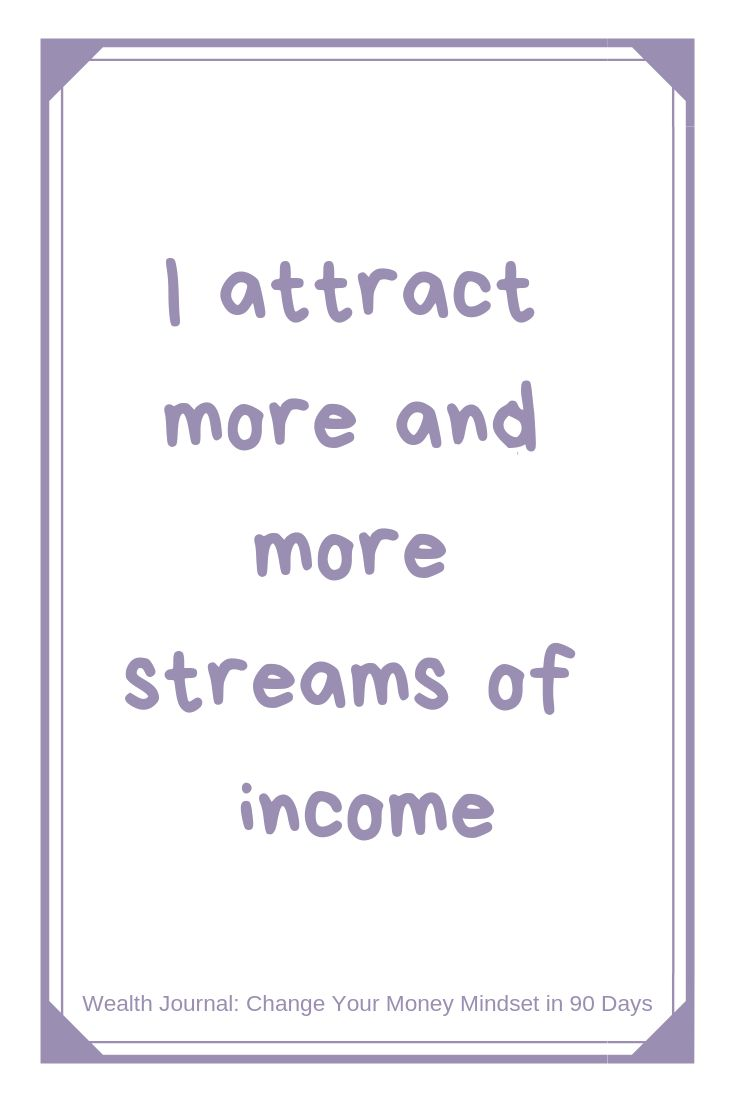 """I attract more and more streams of income"" Daily …"