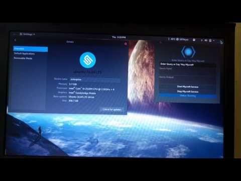 Mycroft AI running on Ubuntu GNOME 16.04 - YouTube
