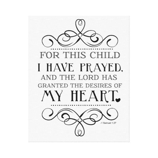 For This Child I Have Prayed Scripture Quote
