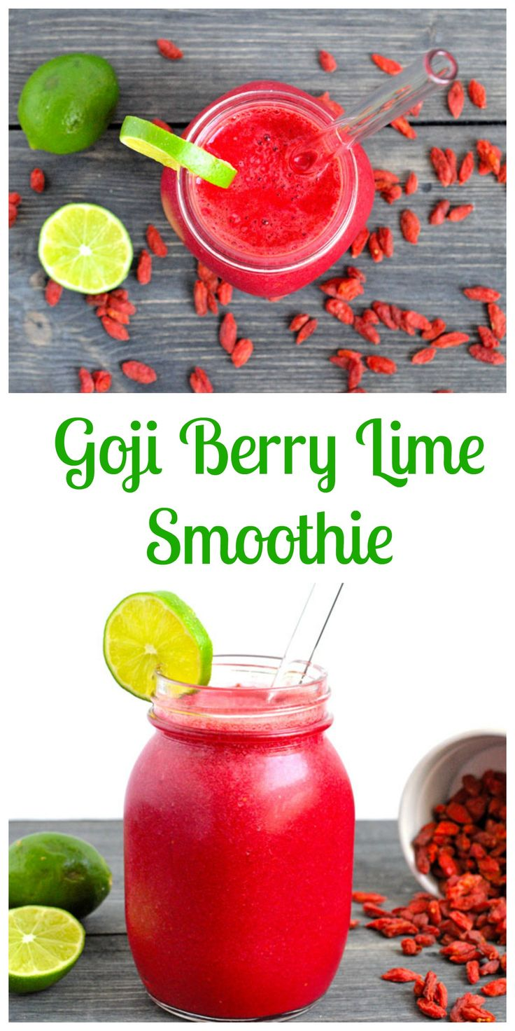 Goji Berry Lime Smoothie! Light, refreshing and Nutrient Packed and perfect for summer or spring!