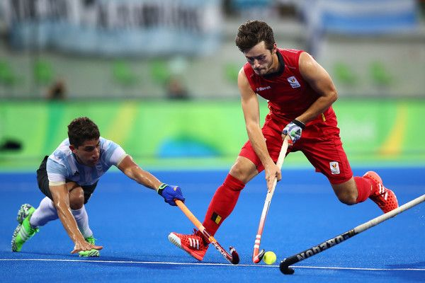 Arthur van Doren Photos - Arthur van Doren #4 of Belgium in action during the Men's Hockey Gold Medal match between Belgium and Argentina on Day 13 of the Rio 2016 Olympic Games at Olympic Hockey Centre on August 18, 2016 in Rio de Janeiro, Brazil. - Hockey - Olympics: Day 13