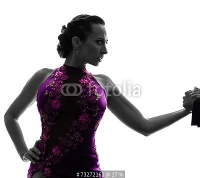 couple man woman ballroom dancers tangoing silhouette autorstwa snaptitude, zdjęcie royalty free #73272161 w Fotolia.com