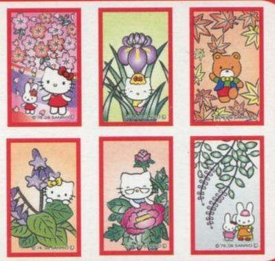 Hello Kitty hanafuda cards.